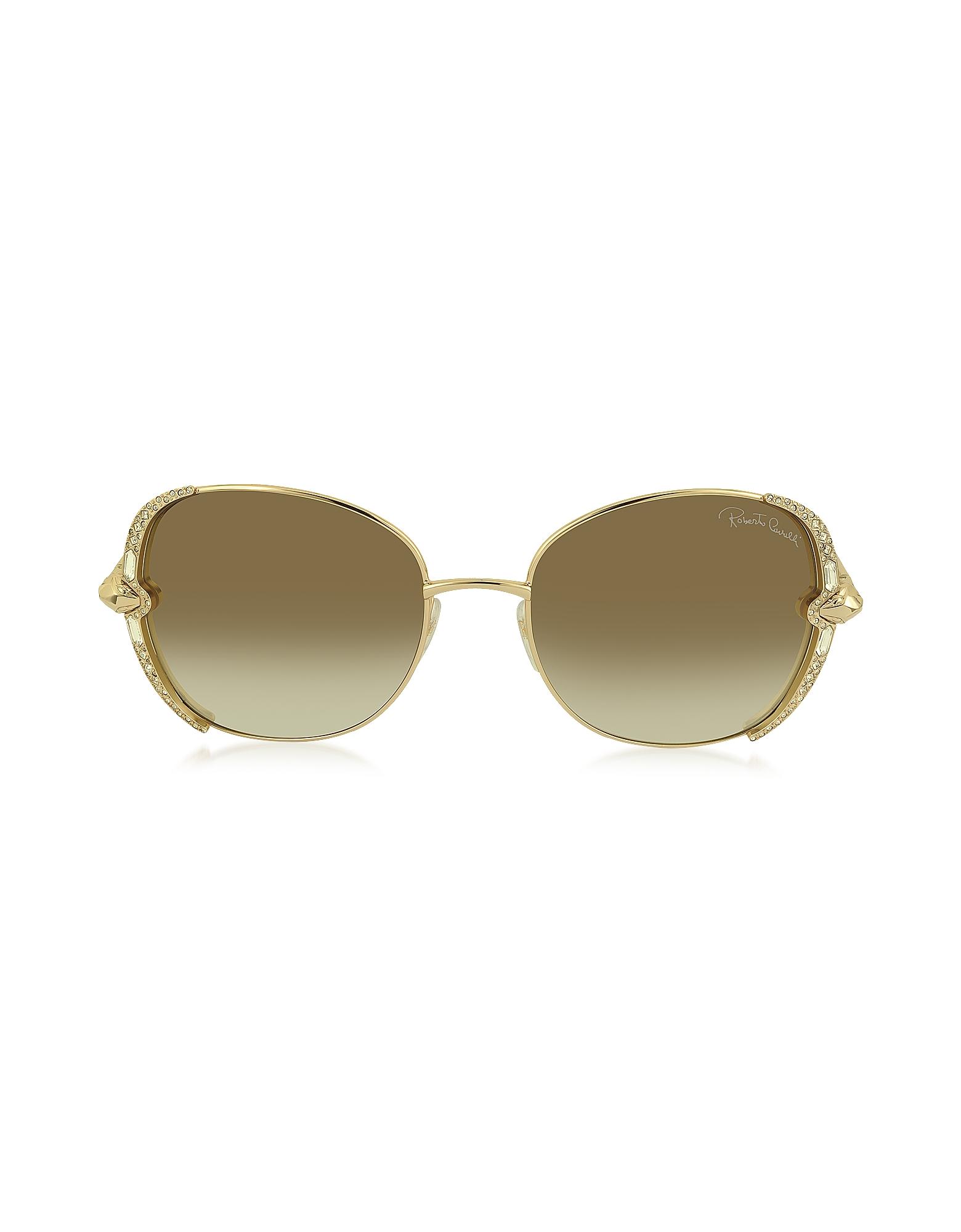 Roberto Cavalli Designer Sunglasses, SUBRA 974S Metal Square Oversized Women's Sunglasses w/Crystals