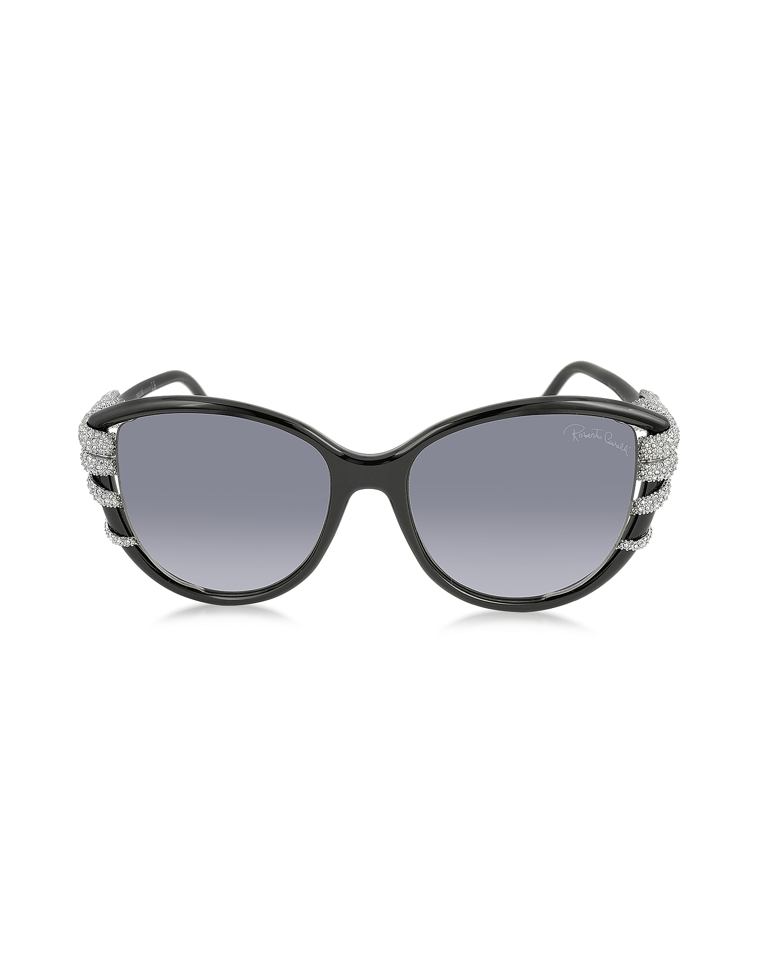 Roberto Cavalli Sunglasses, STEROPE 972S Acetate and Crystals Cat Eye Women's Sunglasses