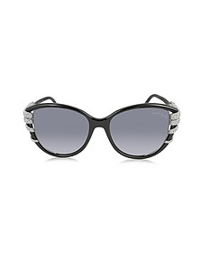 STEROPE 972S Acetate and Crystals Cat Eye Women's Sunglasses - Roberto Cavalli