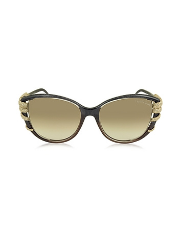 Roberto Cavalli - STEROPE 972S Acetate and Crystals Cat Eye Women's Sunglasses