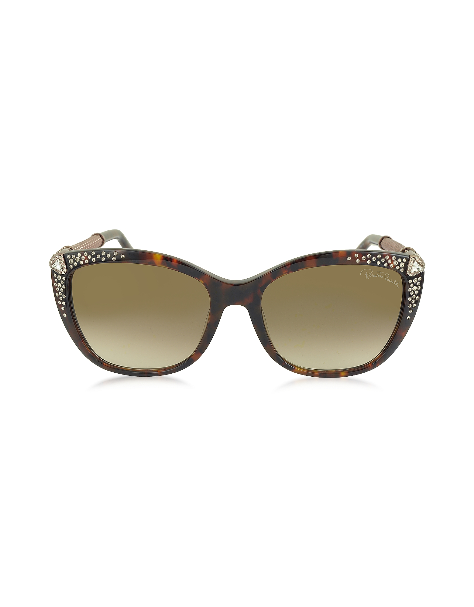 Roberto Cavalli Sunglasses, TALITHA 978S Acetate and Crystals Cat Eye Women's Sunglasses
