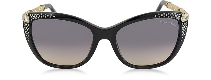 TALITHA 978S Acetate and Crystals Cat Eye Women's Sunglasses - Roberto Cavalli
