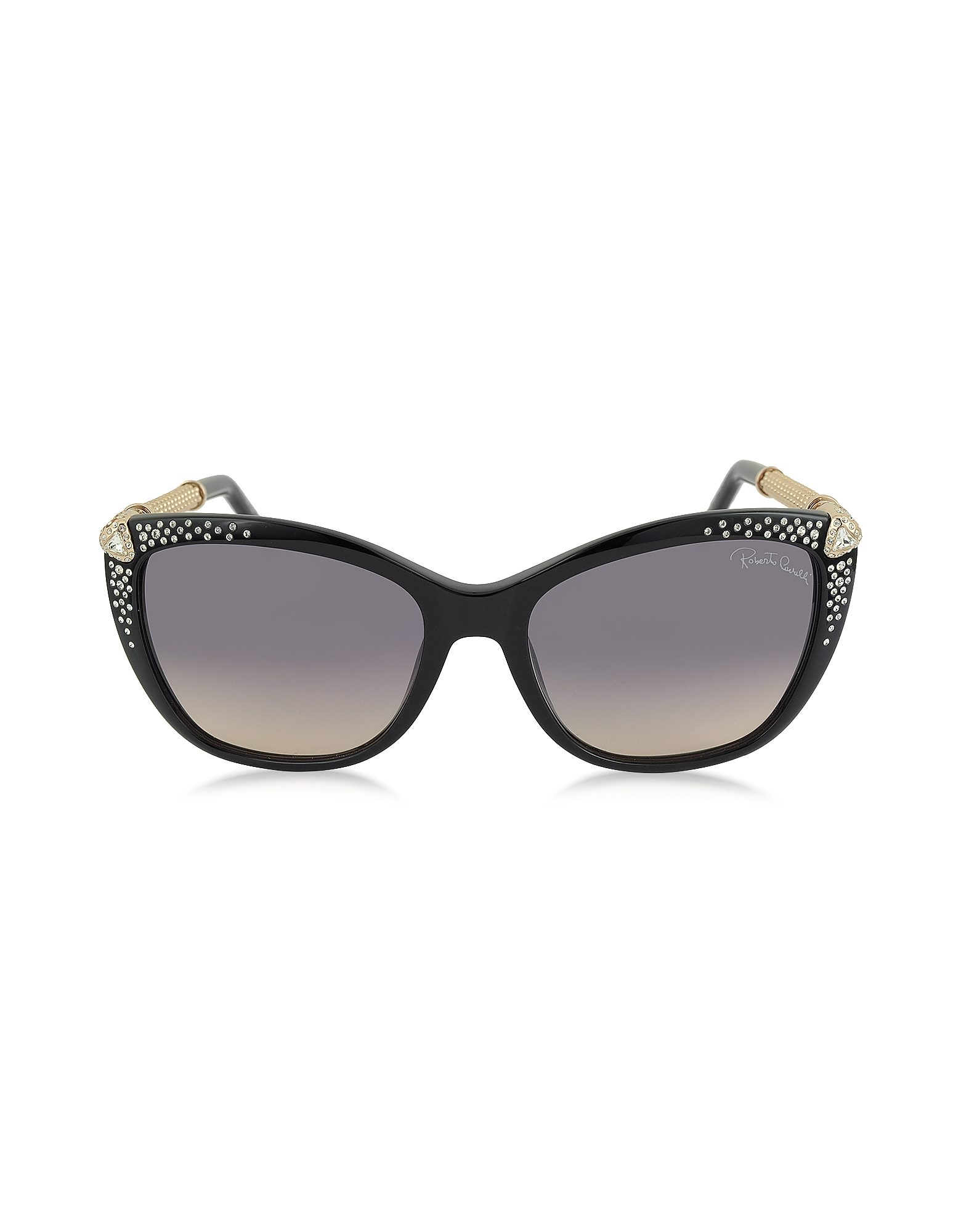 Roberto Cavalli Designer Sunglasses, TALITHA 978S Acetate and Crystals Cat Eye Women's Sunglasses