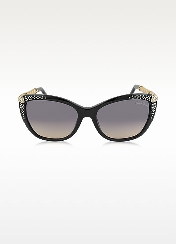 TALITHA 978S Acetate and Crystals Cat Eye Women's Sunglasses - Roberto Cavalli