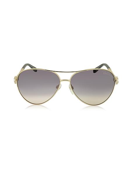 Foto Roberto Cavalli Muphrid 920S-A Occhiali da Sole in Metallo con Cristalli