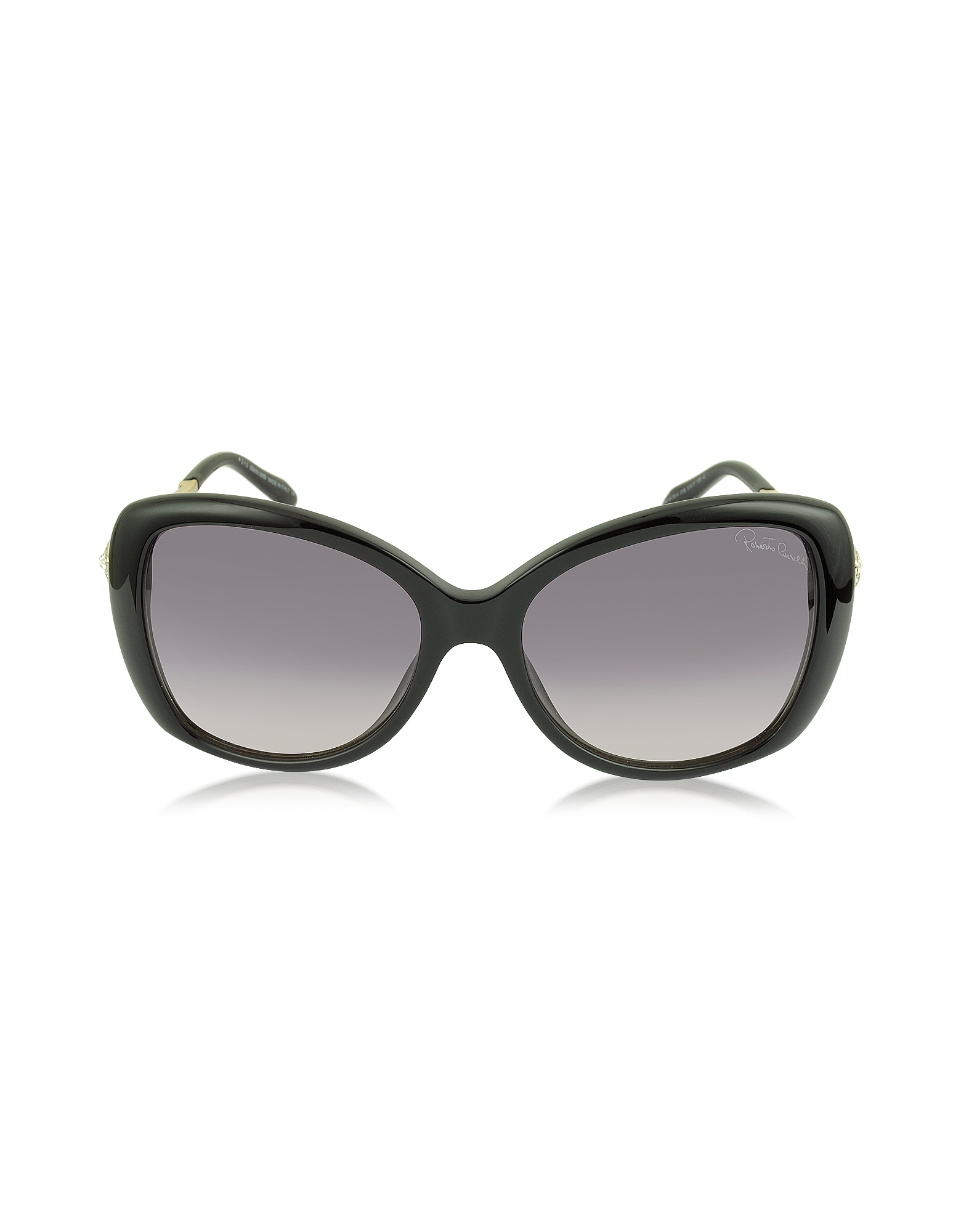 Roberto Cavalli Sunglasses, Mizar 917S-A Black Acetate Women's Sunglasses w/Crystals
