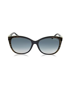 Jabbah 872S Leopard Print Acetate Cat Eye Women's Sunglasses - Roberto Cavalli