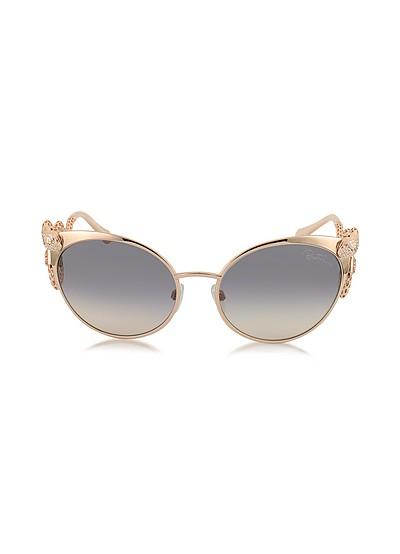 Menkalinan 890S 28F Goldtone Metal Cat Eye Women's Sunglasses w/Crystals - Roberto Cavalli