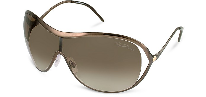 Serpentina - Logo Metal Shield Sunglasses - Roberto Cavalli