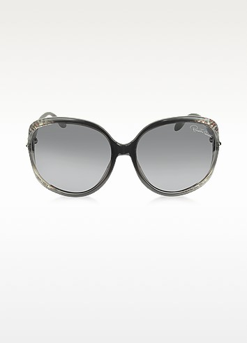 Banyan 732S 05B Black/Grey Leopard Women's Sunglasses - Roberto Cavalli