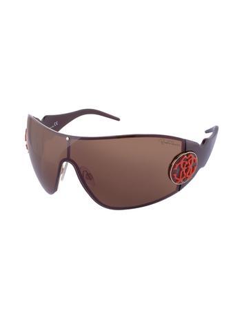 Roberto Cavalli Augia - Logo Stamp Shield Sunglasses