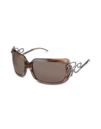 Roberto Cavalli Adrasto - RC Logo Temple Beveled Plastic Sunglasses