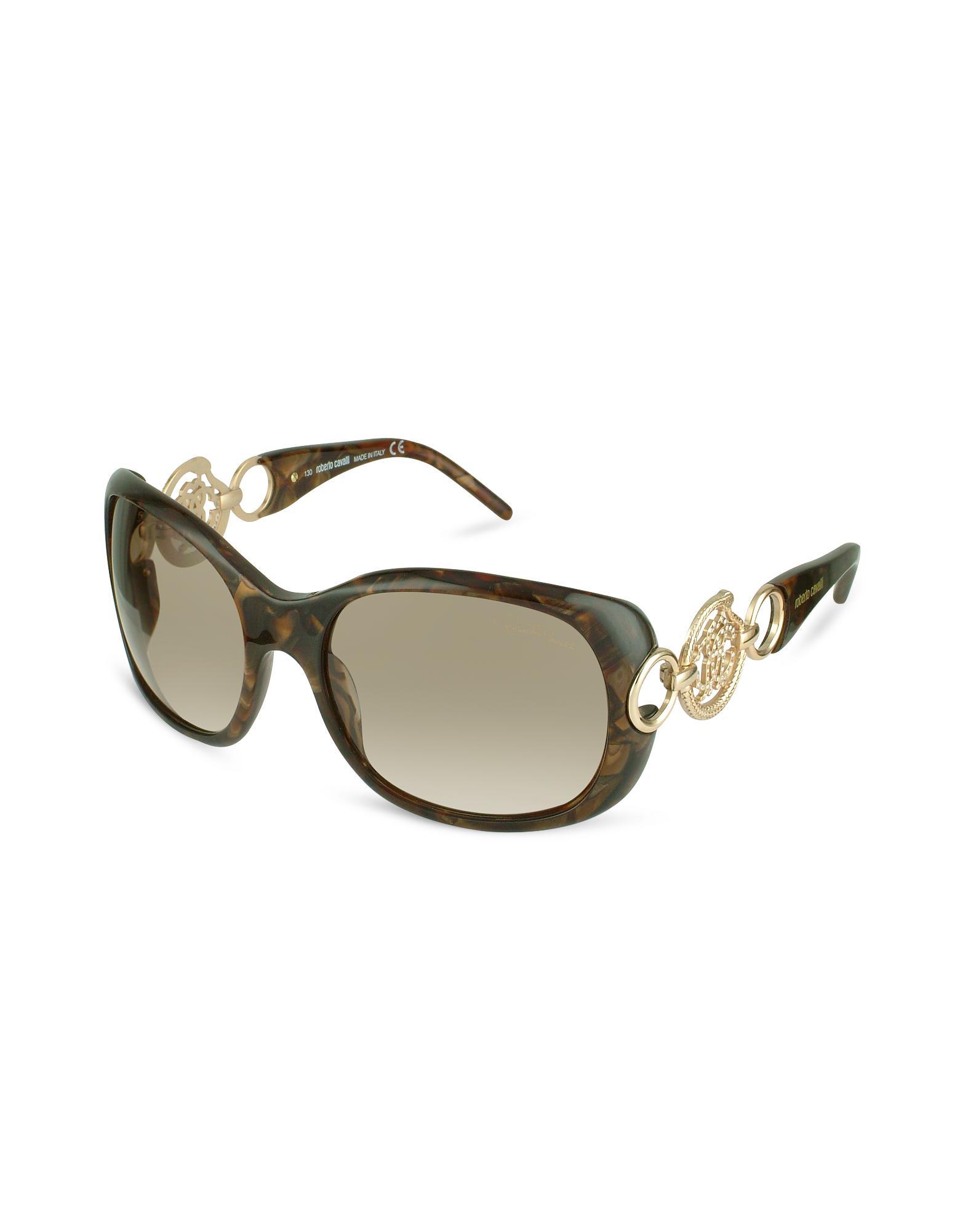 Roberto Cavalli Rubino - Cutout Logo Temple Sunglasses