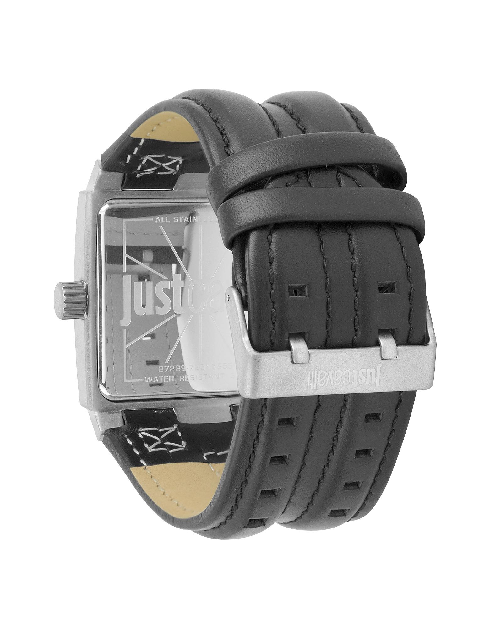 Фото Timesquare 3H- Мужские Часы с Серебристым Циферблатом на Черном Кожаном Ремешке. Купить с доставкой