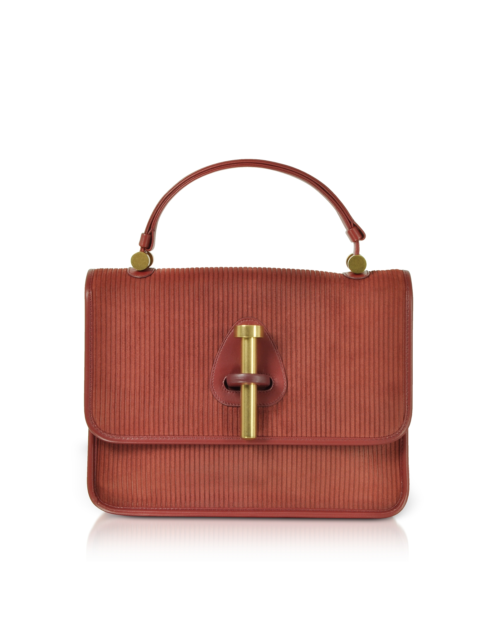 Rodo Handbags, Striped Suede and Leather Satchel Bag