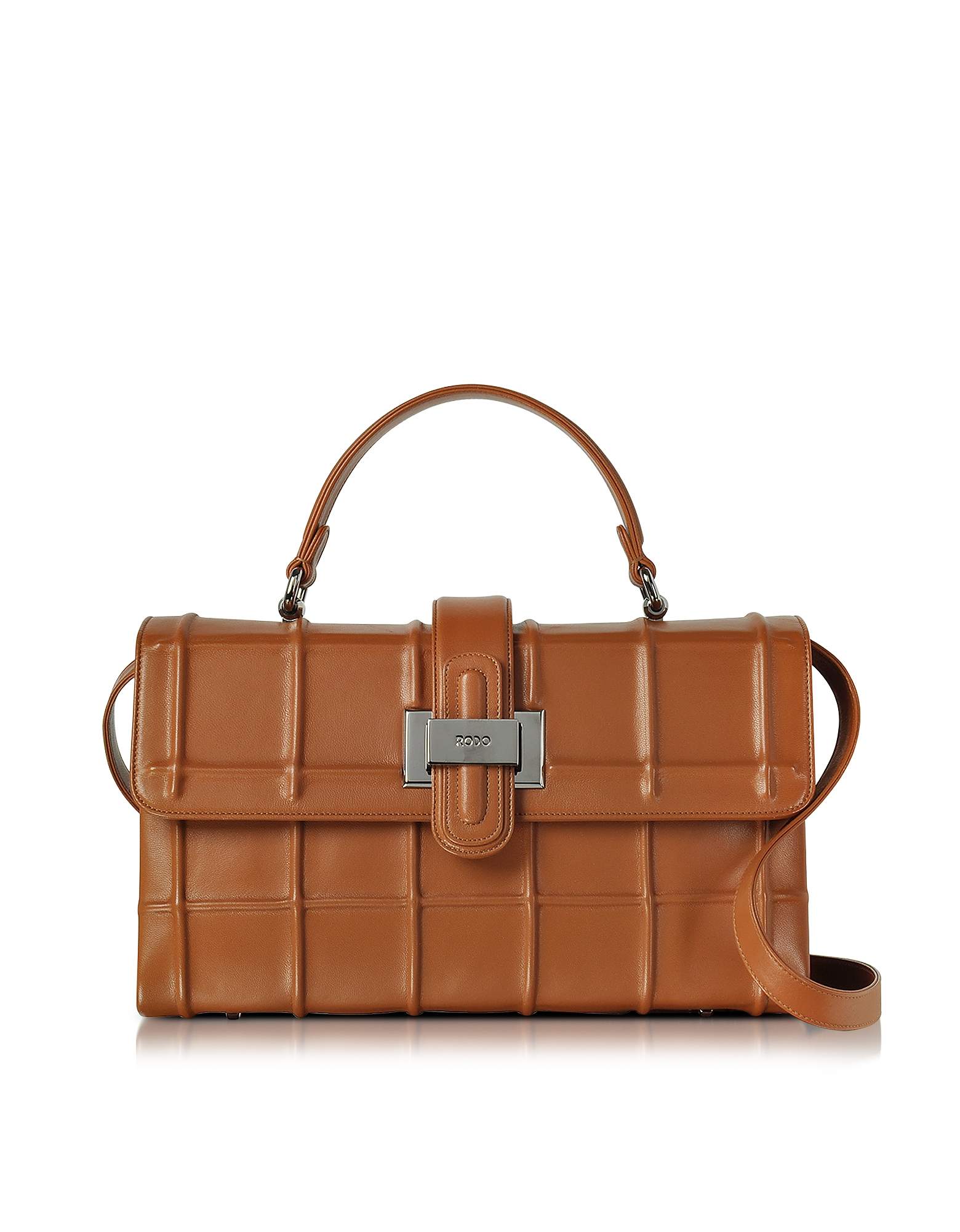 Rodo Handbags, Brown Nappa Leather Lunch Bag