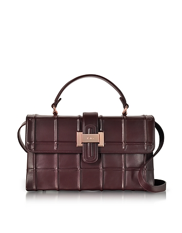 Rodo - Burgundy Nappa Leather Lunch Bag