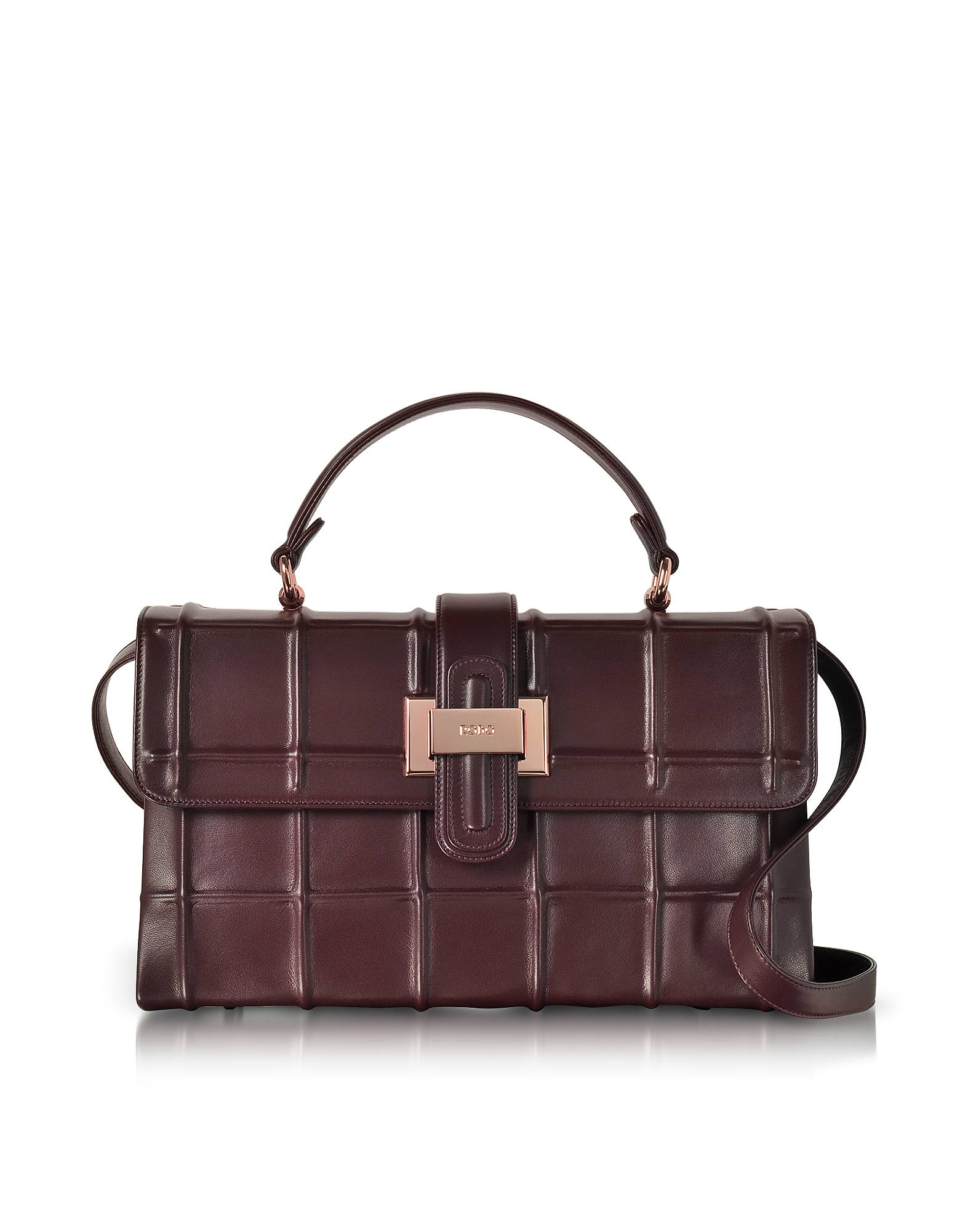 Rodo Handbags, Burgundy Nappa Leather Lunch Bag
