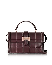 Burgundy Nappa Leather Lunch Bag - Rodo