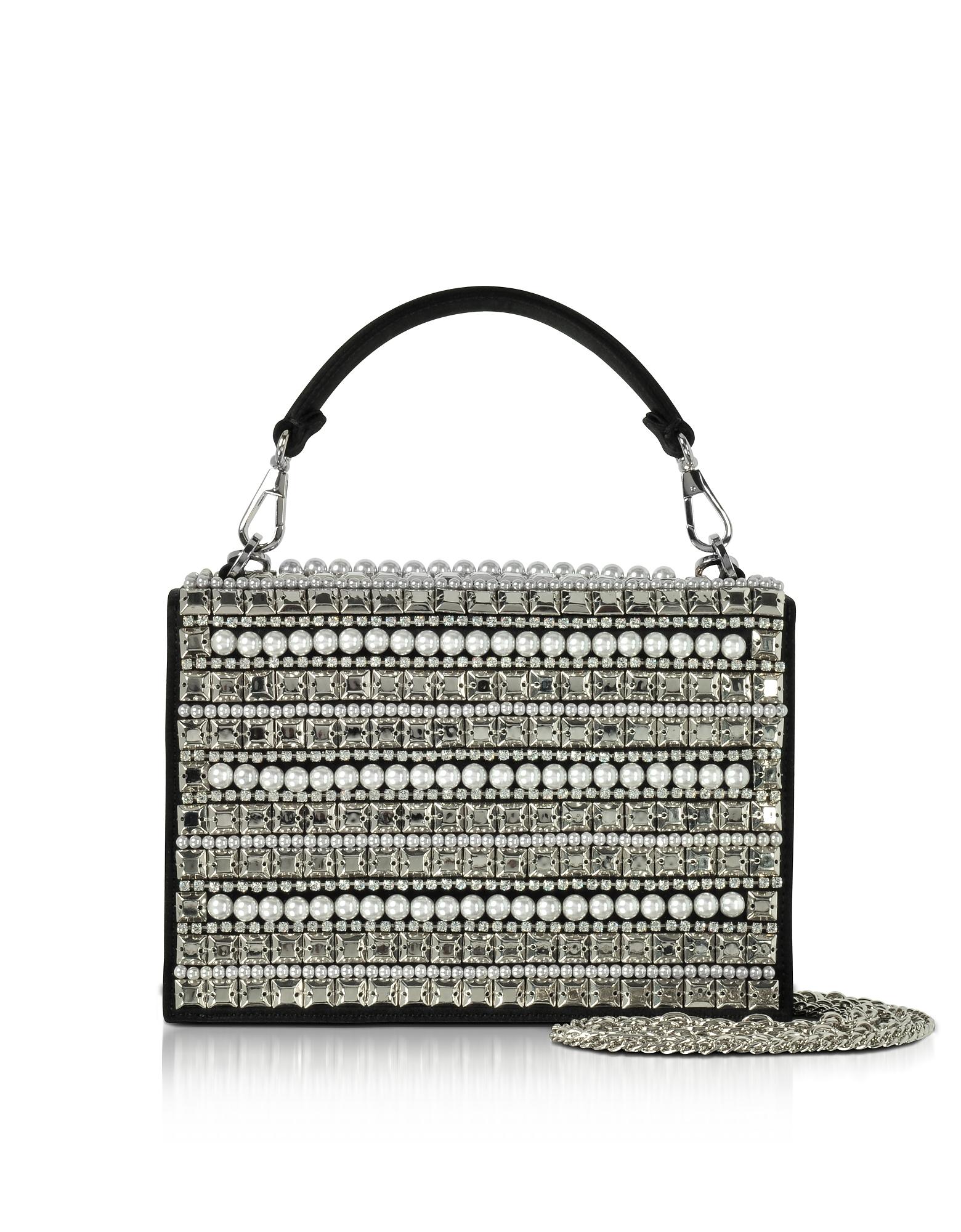 Rodo Handbags, Embellished Satin Silk Celebration Bag w/Top Handle