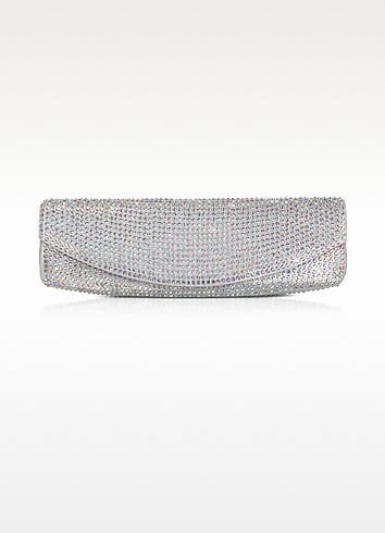 Crystal and Suede Evening Clutch - Rodo
