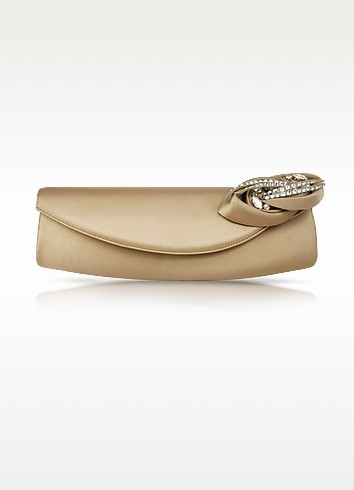 Satin Evening Clutch with Rose - Rodo