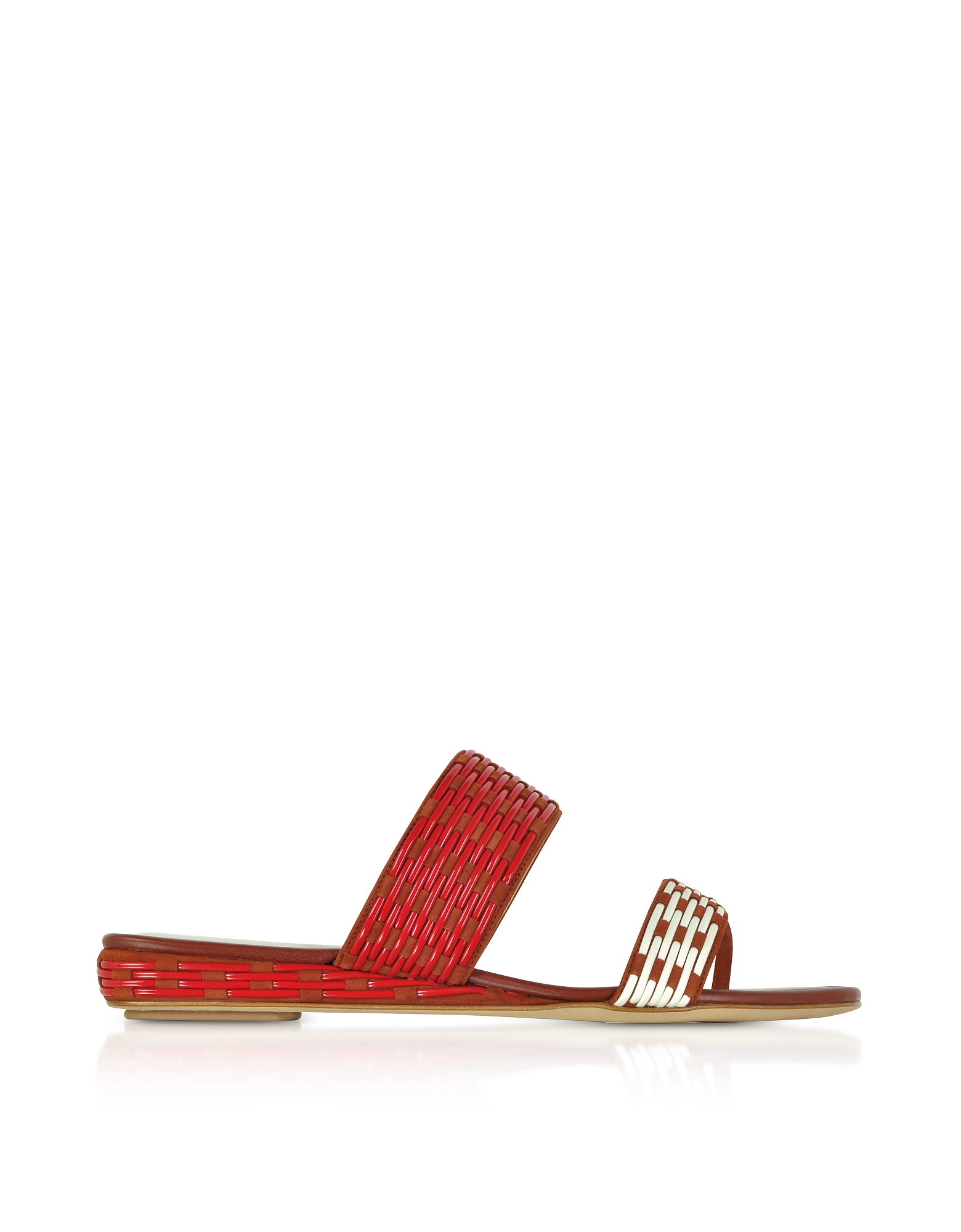 Rodo Shoes, Brown Suede Flat Slide Sandals