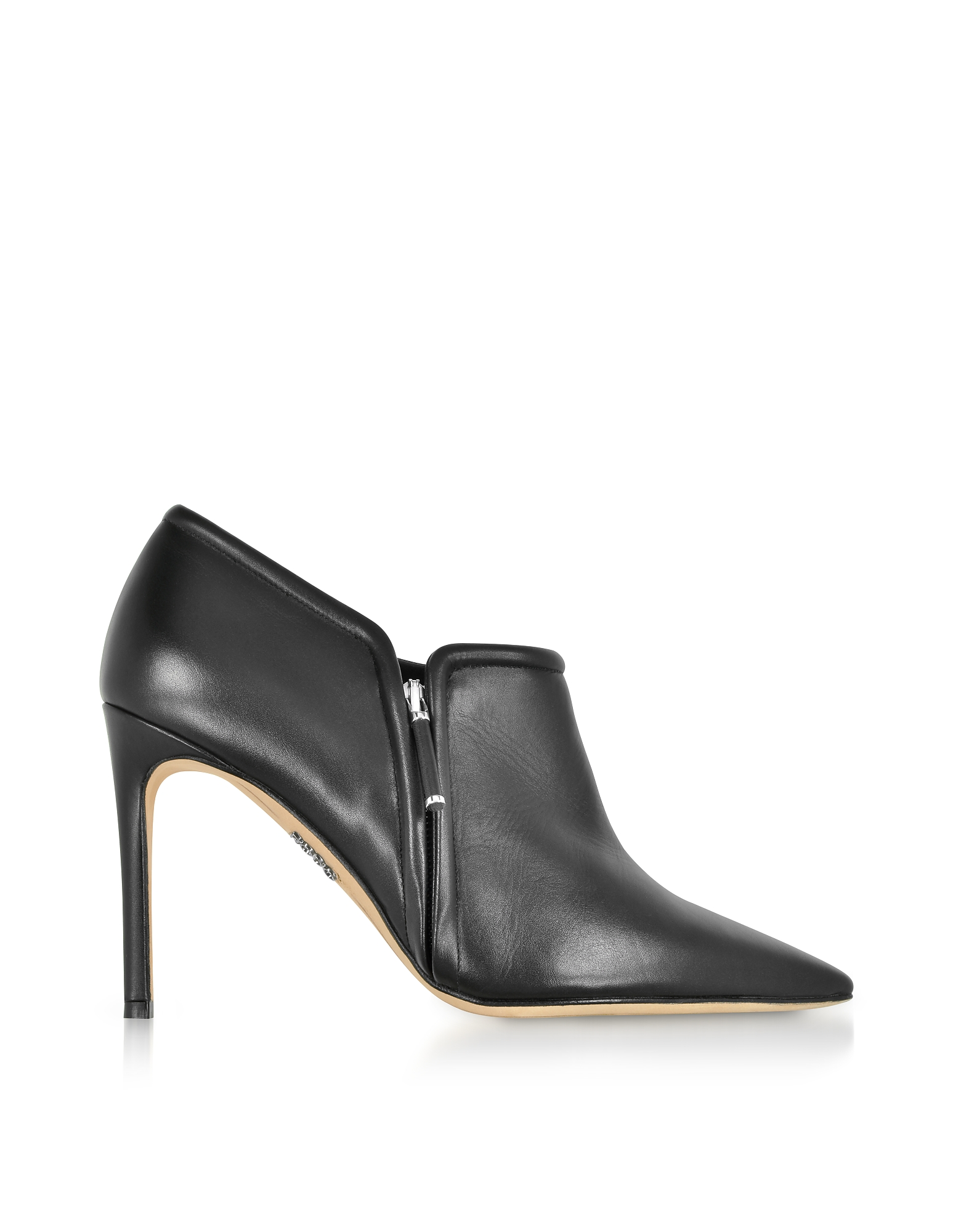 Rodo Shoes, Black Leather High Heel Booties