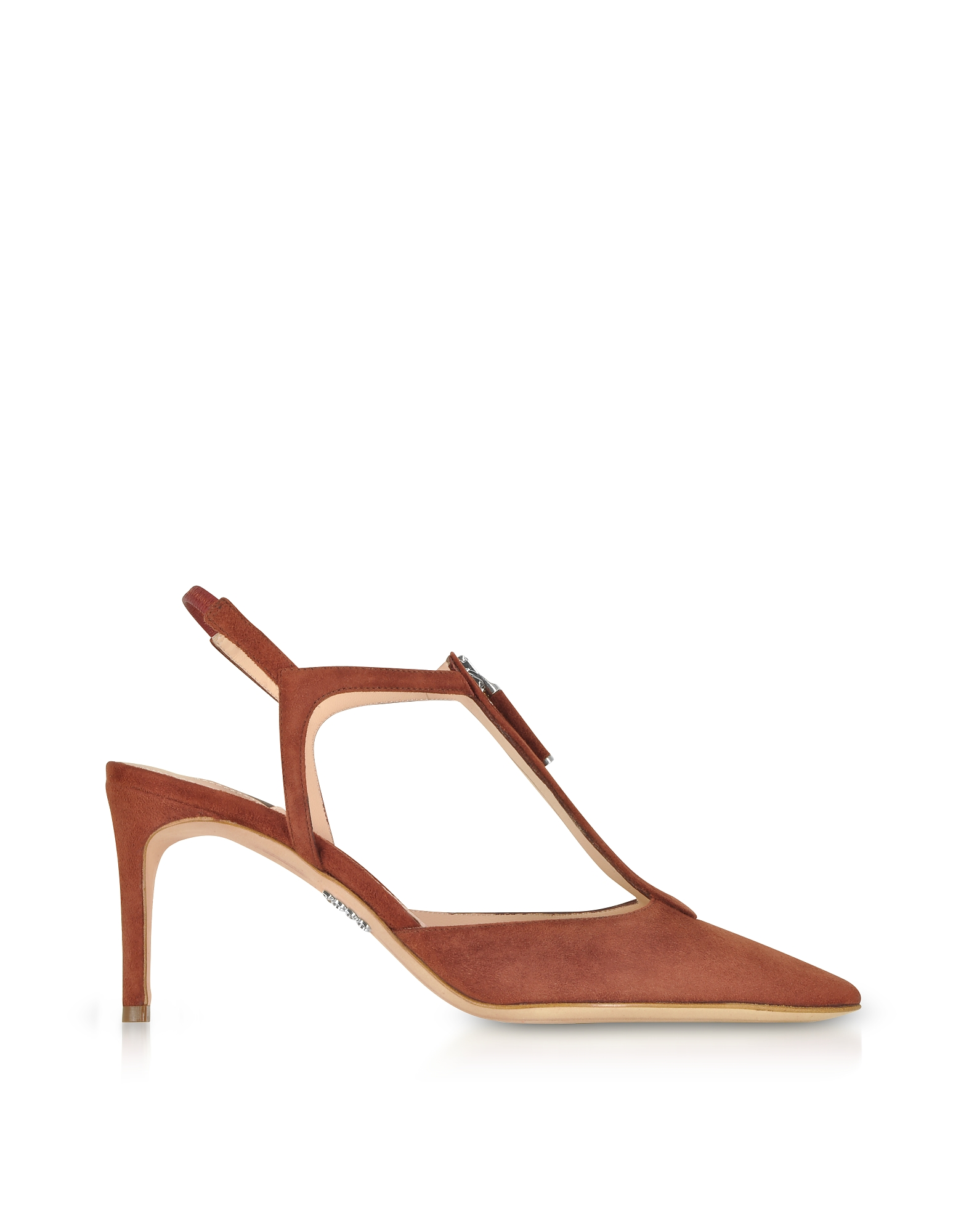 Rodo Shoes, Brown Suede High Heel Zip Pump
