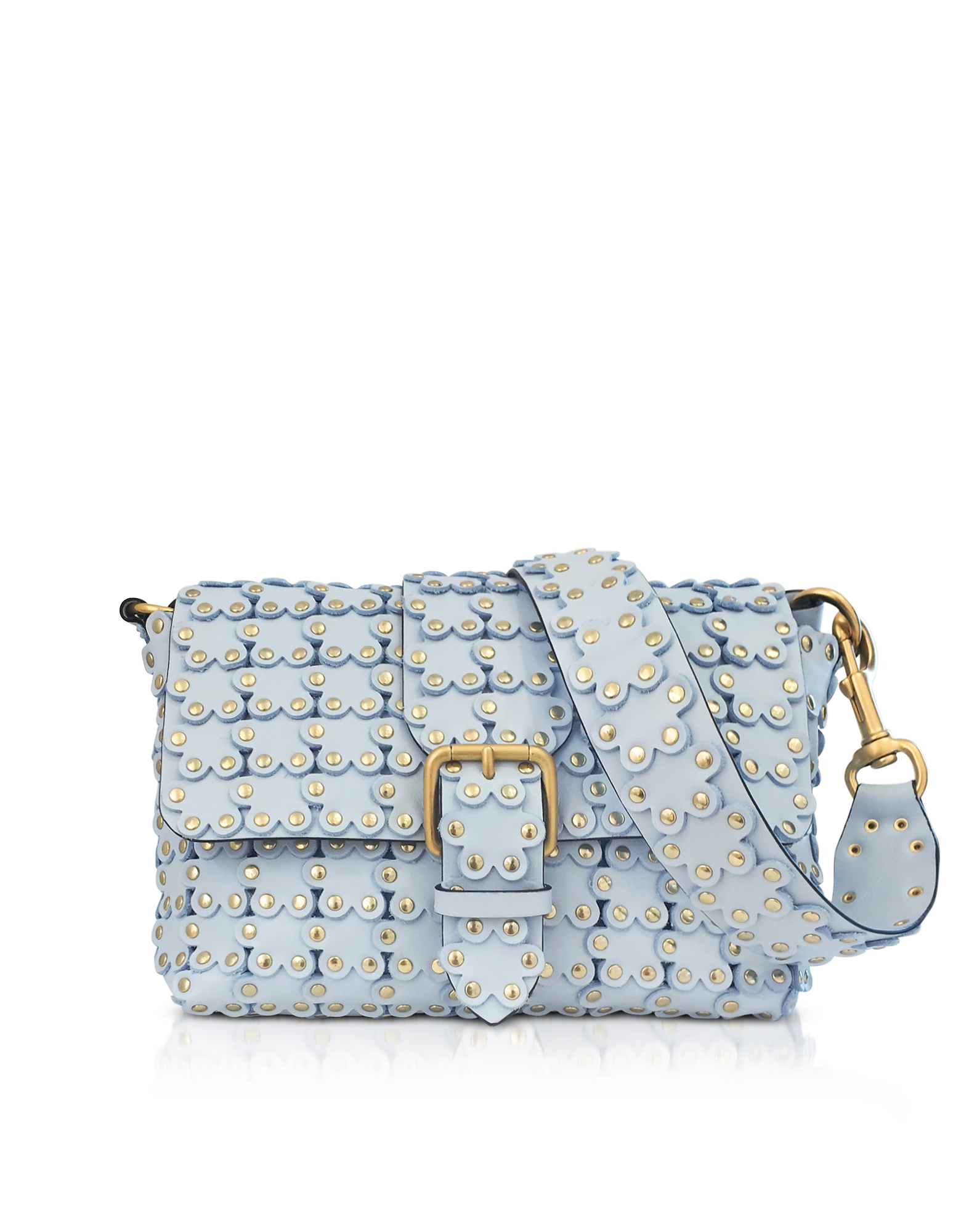 RED Valentino Handbags, Flower Puzzle Leather Shoulder Bag