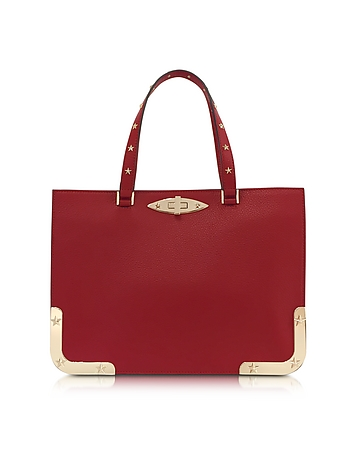 RED Valentino - Medium Double Handle Leather Bag