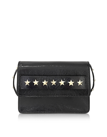 RED Valentino - Golden Stars Black Leather Shoulder Bag