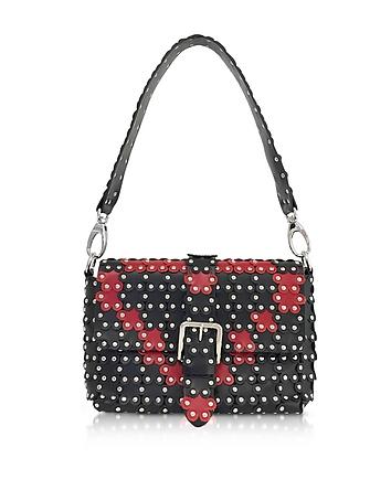 RED Valentino - Black and Red Studded Shoulder Bag
