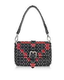 Black and Red Studded Shoulder Bag  - RED Valentino