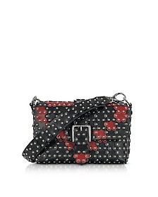 Black and Red Studded Shoulder Bag  - RED Valentino