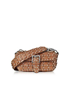 Genuine Leather Studded Shoulder Bag - RED Valentino