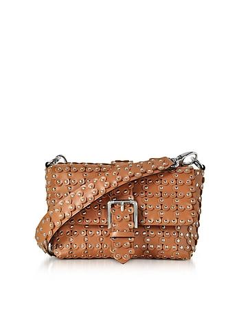 RED Valentino - Studded Leather Flap Top Shoulder Bag