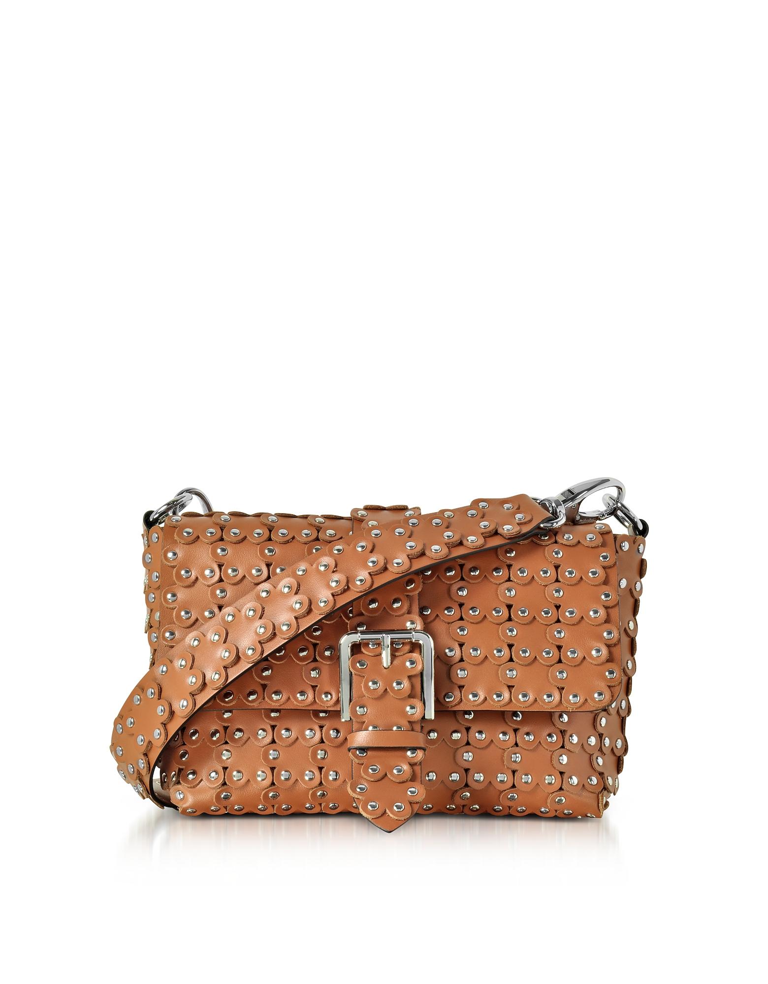 RED Valentino Handbags, Studded Leather Flap Top Shoulder Bag