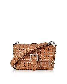 Studded Leather Flap Top Shoulder Bag - RED Valentino