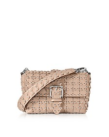 Studded Leather Flap Top Shoulder Bag - RED Valentino