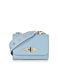 Leather Shoulder Bag w/Stars - RED Valentino