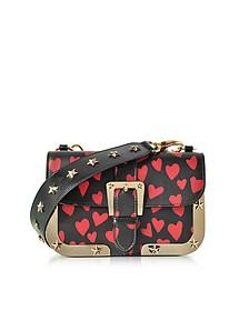Heart printed leather Shoulder Bag - RED Valentino
