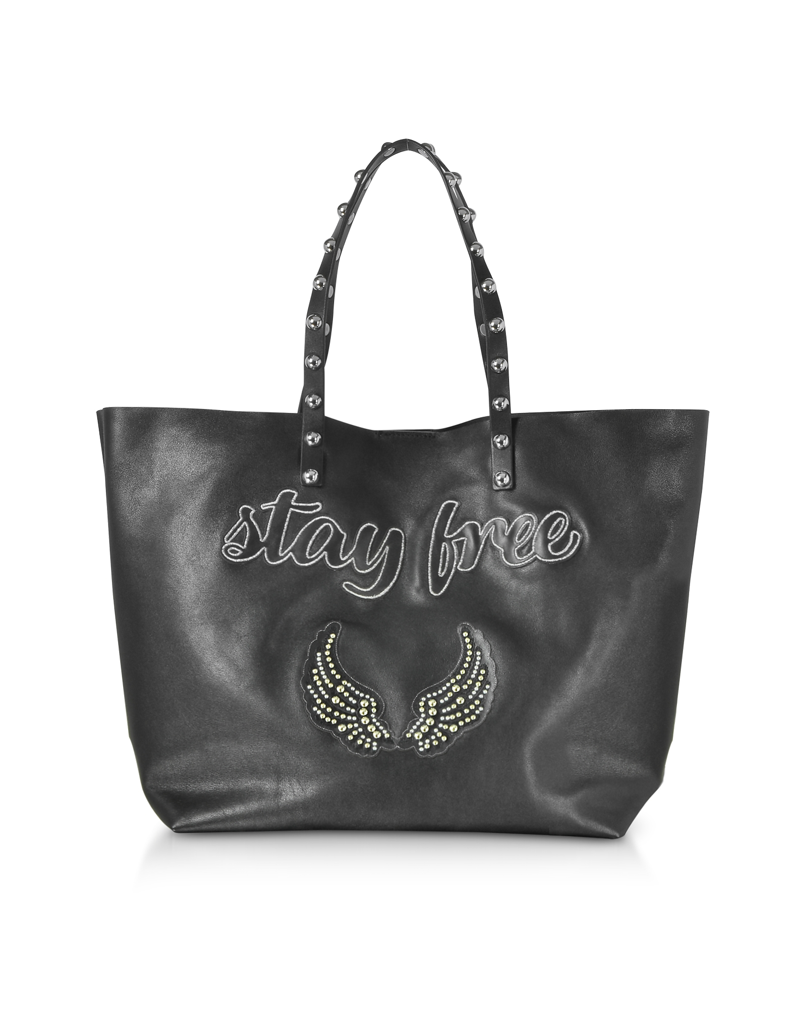 RED Valentino Handbags, Stay Free Black Leather Tote