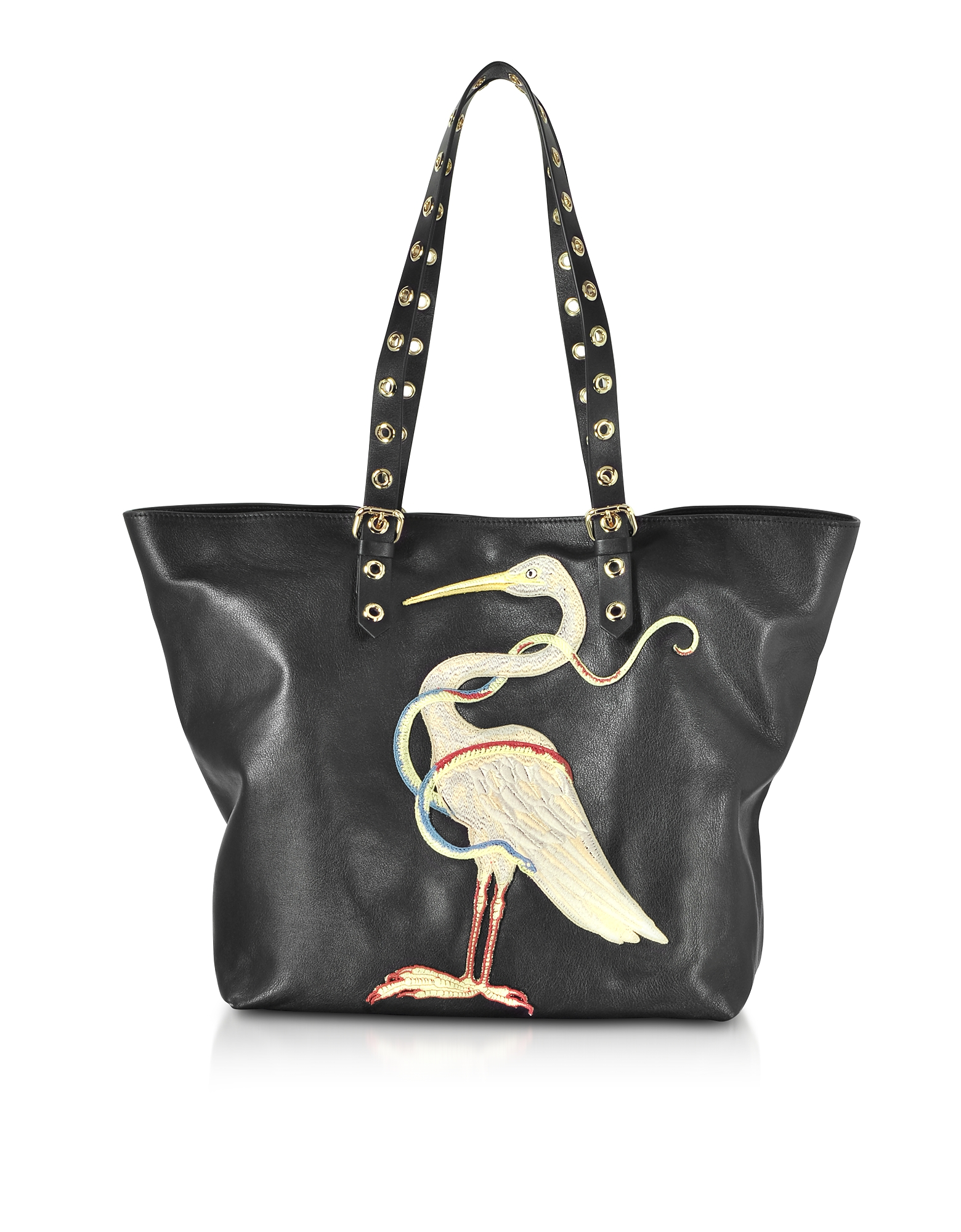 Black Large Leather Tote
