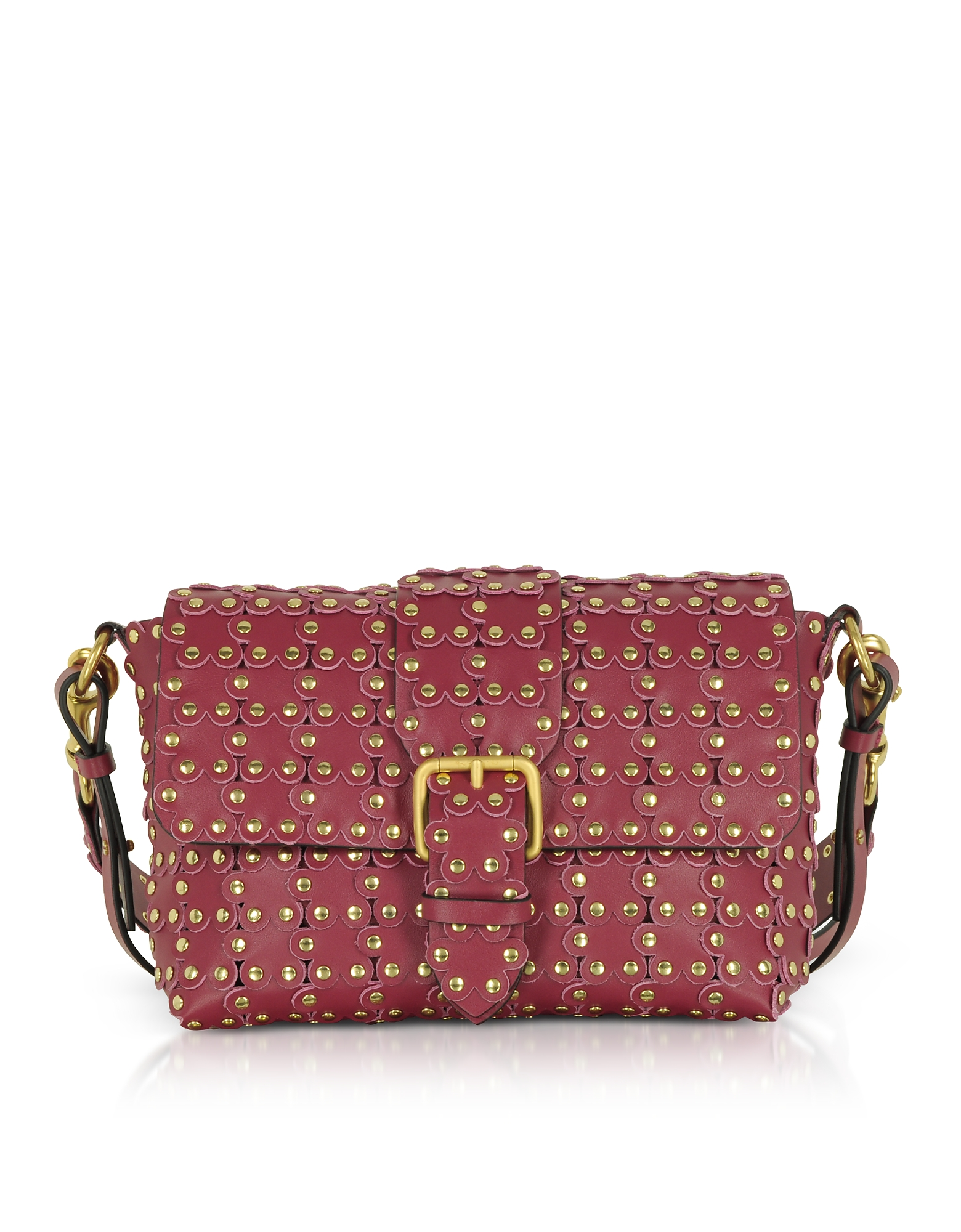 FLOWER PUZZLE LEATHER SHOULDER BAG from FORZIERI
