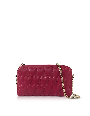 Beating Hearts Nappa Leather Chain Shoulder Bag