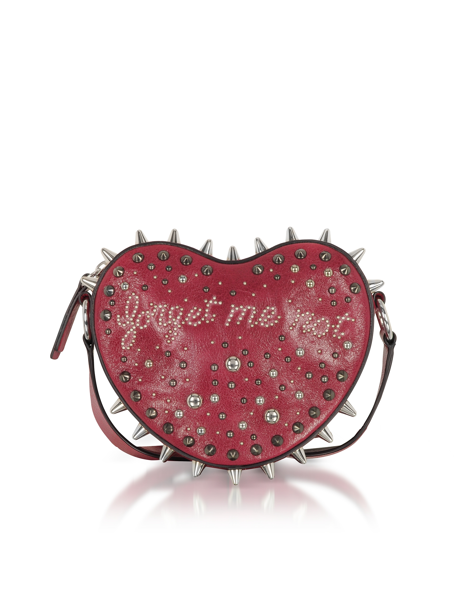 FORGET ME NOT HEART STUDDED CROSSBODY BAG from FORZIERI