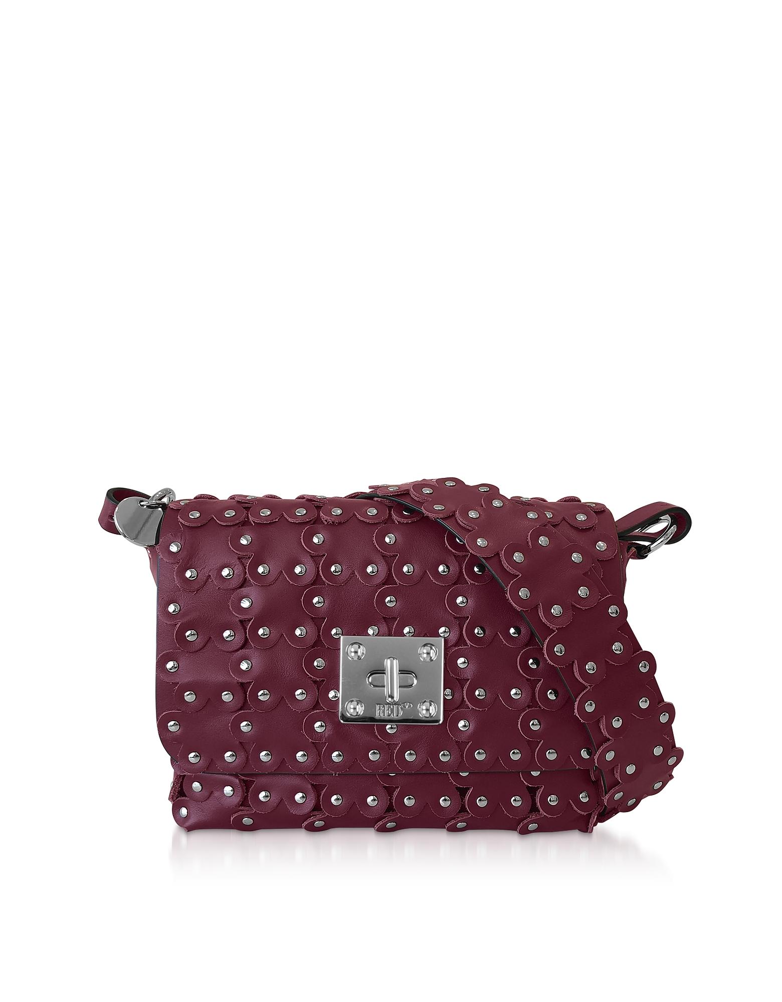Flower Puzzle Leather Shoulder Bag