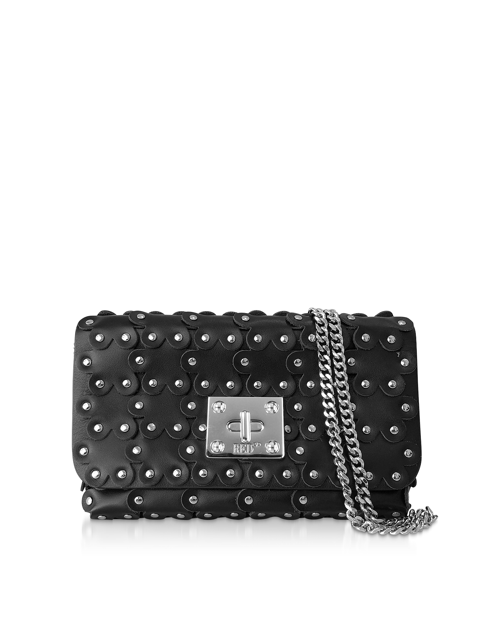 Flower Puzzle Leather Clutch
