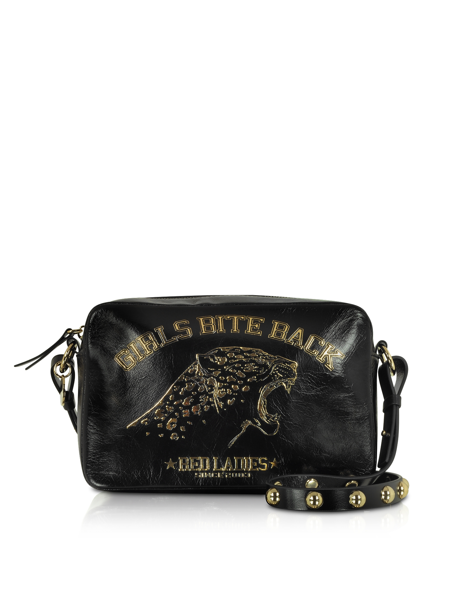 Girls Bite Back Black Crossbody Bag